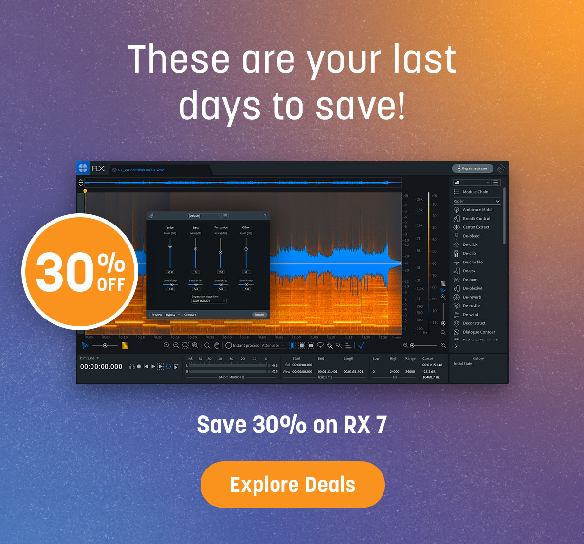 These are your last days to save!