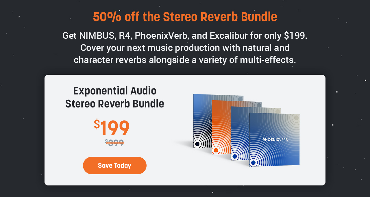 50% off the Stereo Reverb Bundle