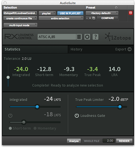 Using RX Loudness Control within Avid Media Composer | Loudness Plugin