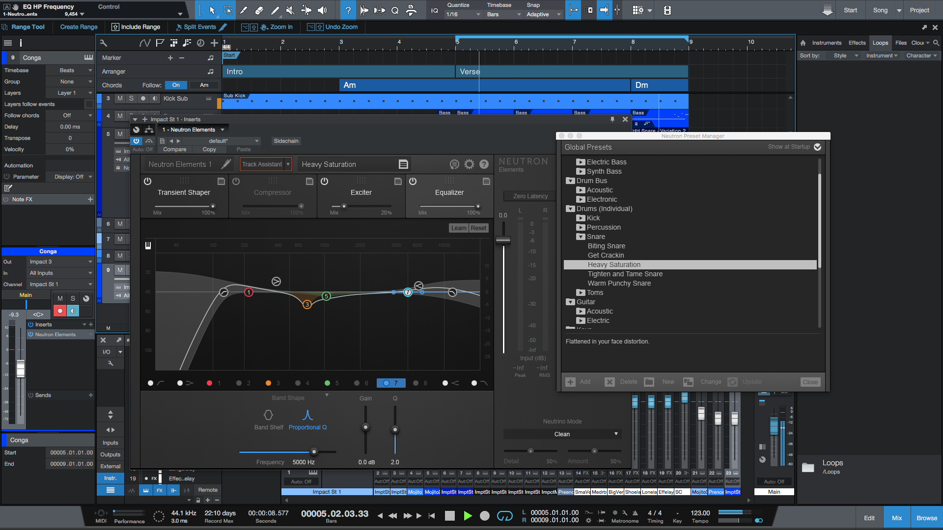 Using Neutron Elements Presets To Speed Up Mixing