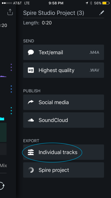 How to Export Tracks from the Spire App to your DAW