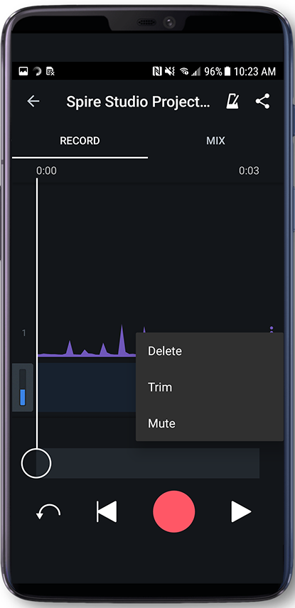Creating & Editing Project Using the Spire App | Music Recording
