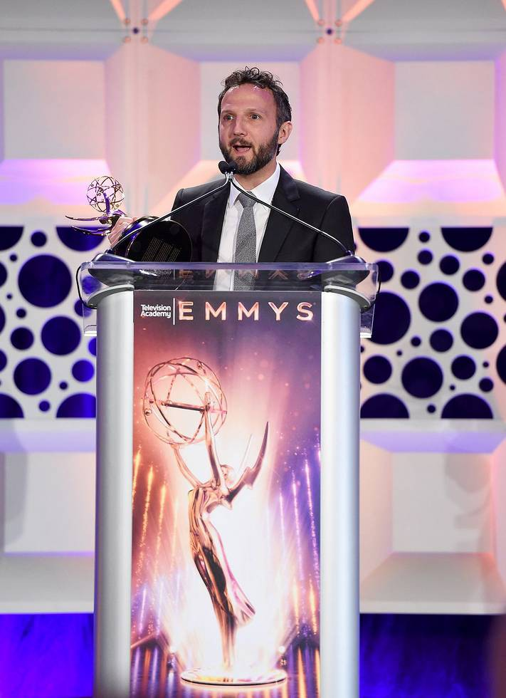iZotope CEO Mark Ethier  Accepting Emmy award