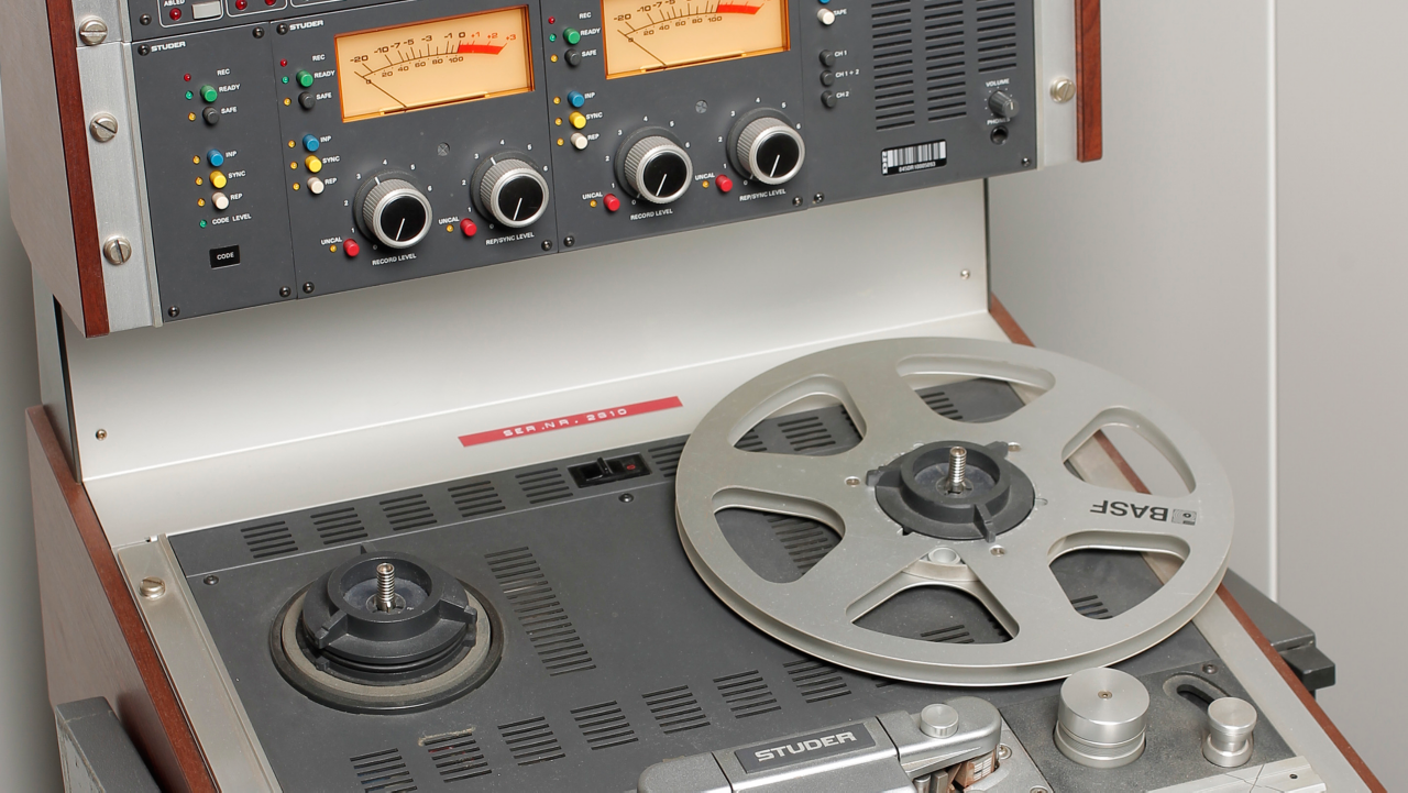 A Studer A810 2-track tape machine