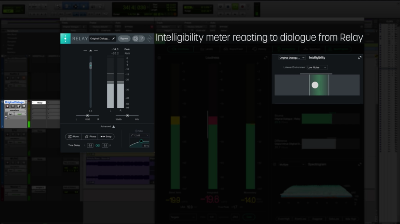 Checking vocal intelligibility with the Intelligibility meter in Insight 2