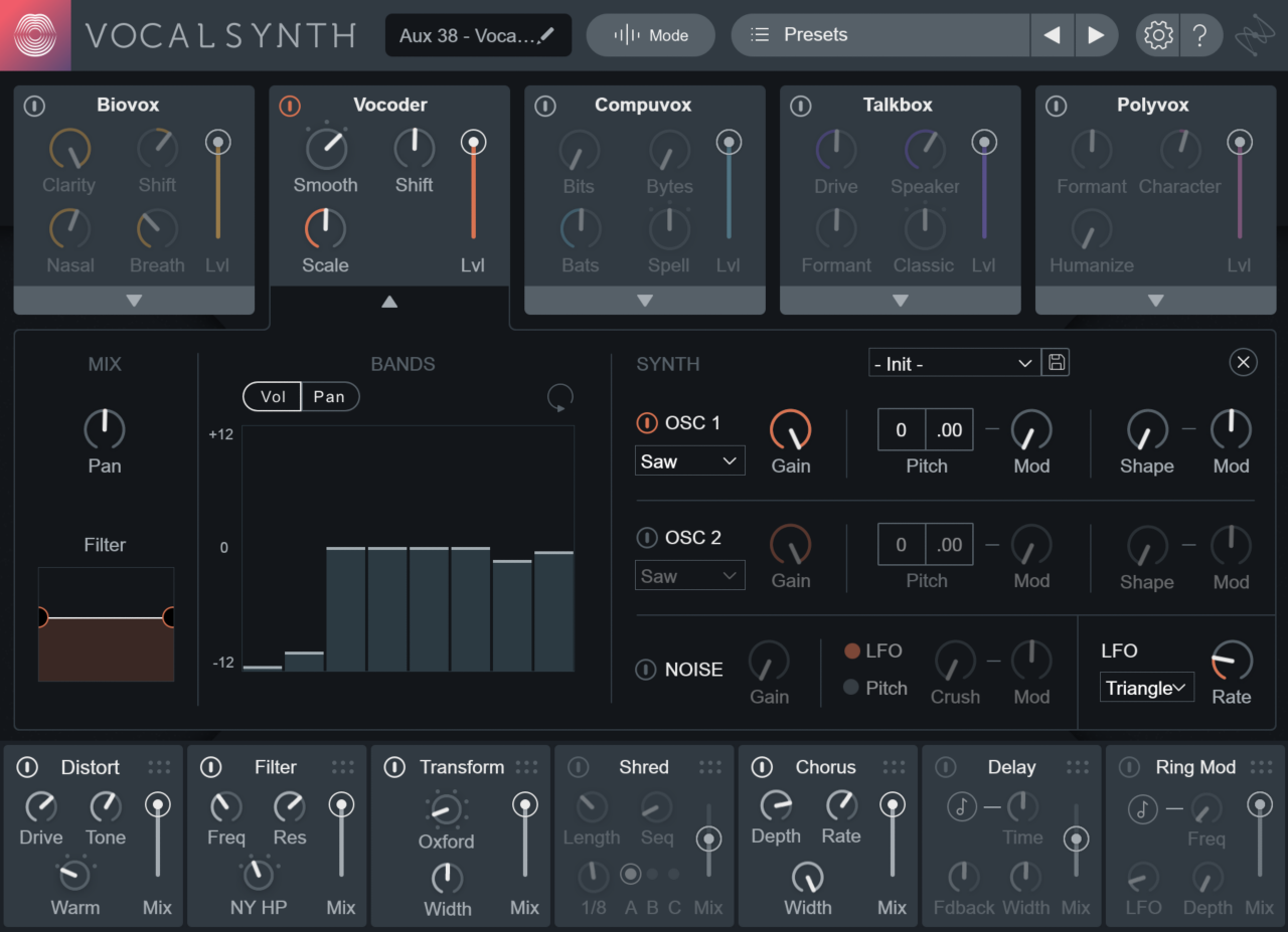 Vocal mangling with VocalSynth 2