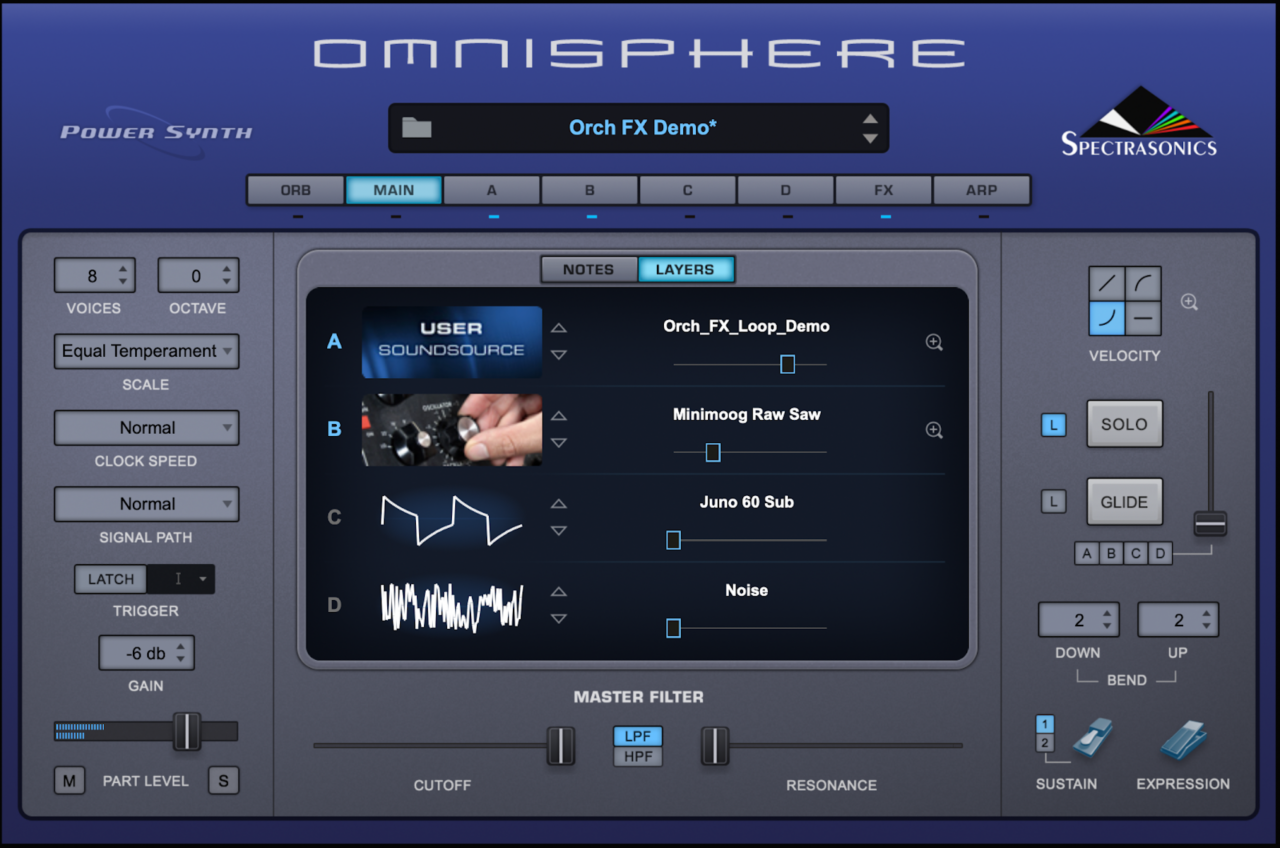 Test patch in Omnisphere