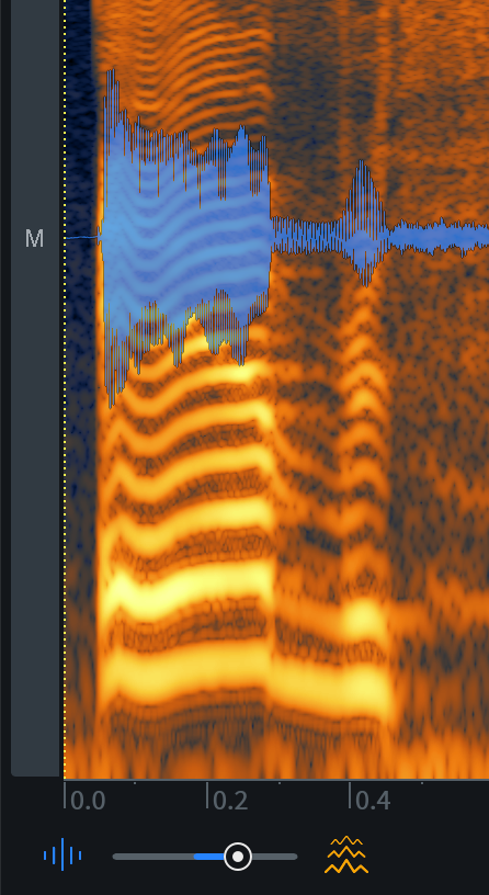Waveform/Spectrogram Opacity slider