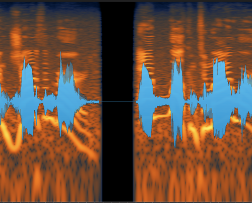 A dropout shown on a spectrogram