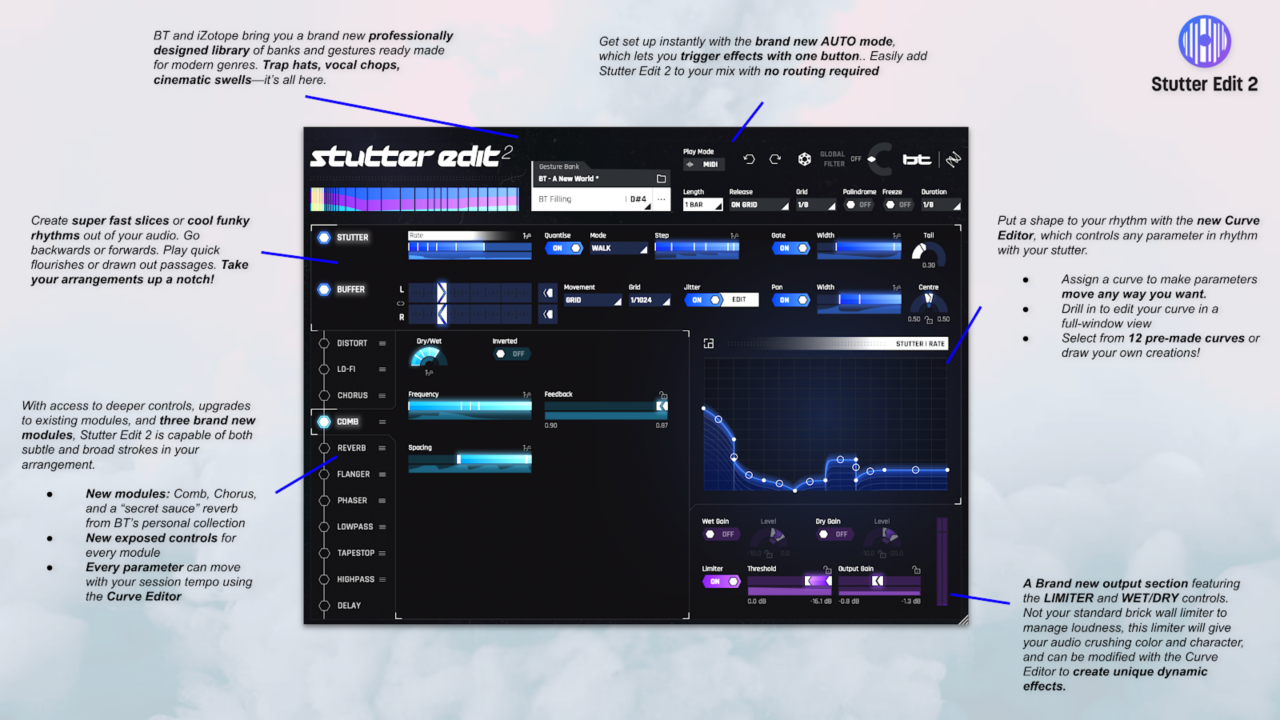Overview infographic of Stutter Edit 2 (all info also contained in this article)