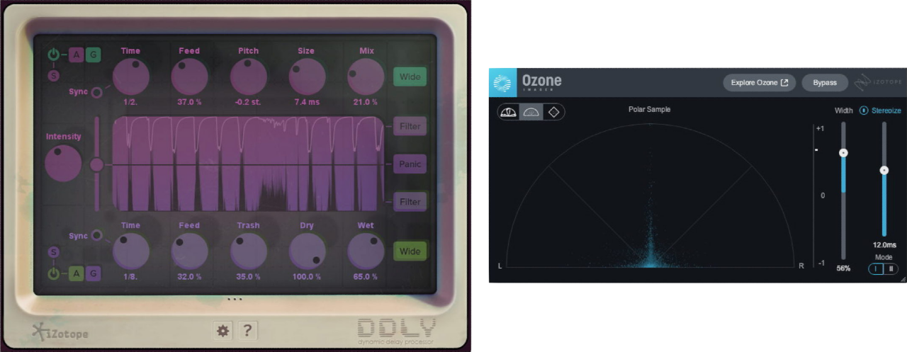 User interfaces for DDLY Dynamic Delay and Ozone Imager