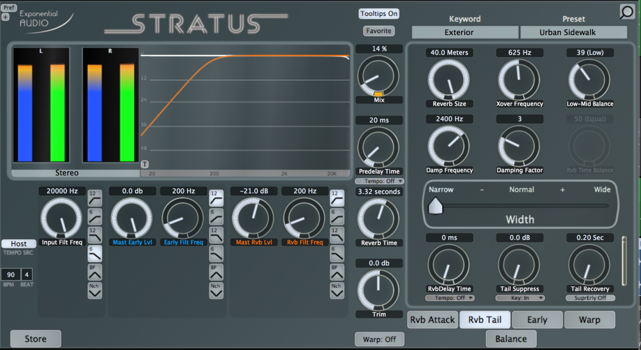 Stratus Exterior Preset, blend minimal, applied direct