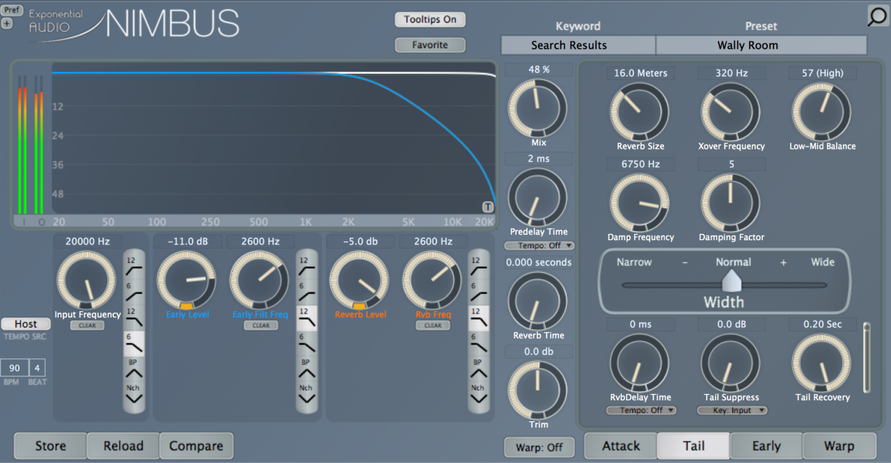 NIMBUS reverb at beginning of automation