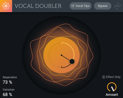 My settings for Vocal Doubler—as I take the risky step of doubling vocals that are already doubled!