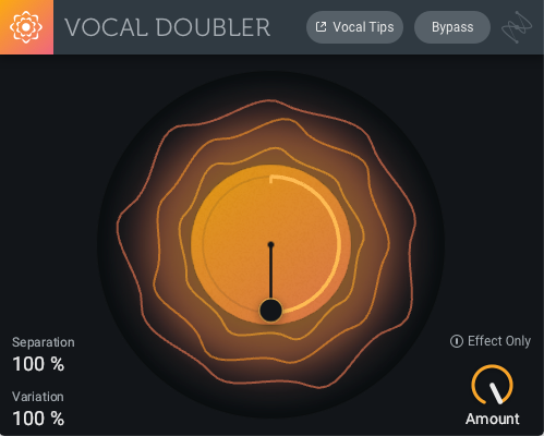 Vocal Doubler has a simple interface with only five controls, making it easy for any musician to use.