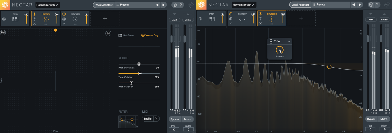 Imitating vocal doubling with Nectar 3 Harmony module
