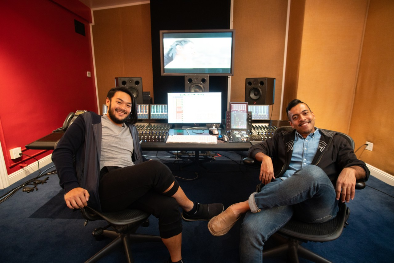 Alvin Wee and Rendra Zawawi in the studio